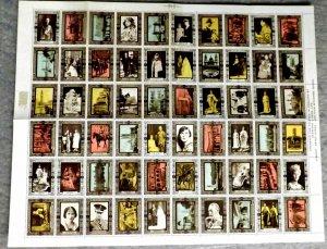 1937 Great Britain King George VI Coronation 60 Poster Stamp Sheet