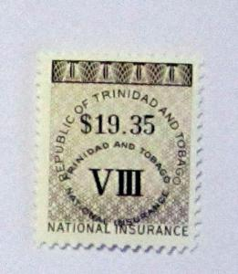 Trinidad & Tobago- MNH, $19.35 Face Value Ins. Revenue Stamp