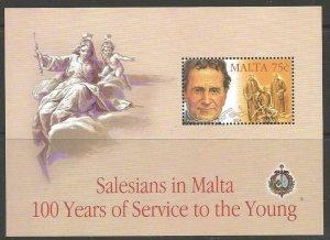 MALTA SGMS1354 2004 CENTENARY OF SALESIANS IN MALTA MNH