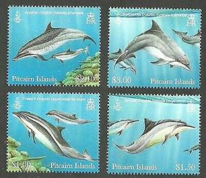 Pitcairn Islands - Dolphins - 4 Stamp Set - PIT1202C