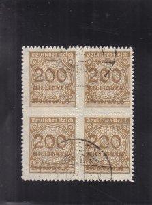 Germany: Sc # 304, Block/4, Used (S18330)
