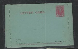 SOUTHERN RHODESIA  COVER  (P1002BB)  KGV    1 D   LETTER CARD     UNUSED