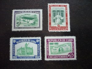 Stamps - Cuba - Scott# C57-C60 -Mint Hinged Set of 4 Air Mail Stamps