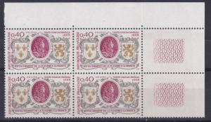 FRANCE  1968  S G  1798   40C  VALUE  BLOCK OF 4  MNH  NO F347