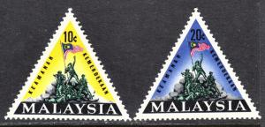 Malaysia Scott 31-32  complete set  F to VF mint OG H.