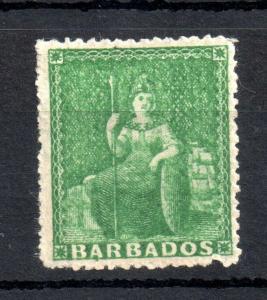 Barbados QV 1861 1/2d green SG#21 mint MH WS13504