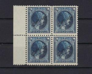 luxembourg 1926 1¼ fr officials unmounted  mint stamps block   REF 4476