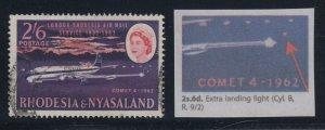 Rhodesia, SG 42a, used Extra Landing Light variety