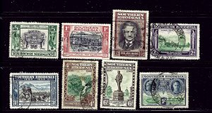 Southern Rhodesia 56-63 Used 1940 set