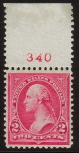 MALACK 267 XF OG NH, with plate number,  Nice and Fresh! g4894