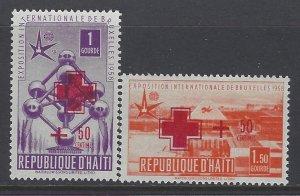 Haiti, Scott #B2-B3; Red Cross Issues, MH