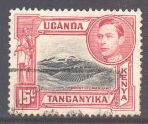 KUT SG137a, 1938 George VI 15c Red used