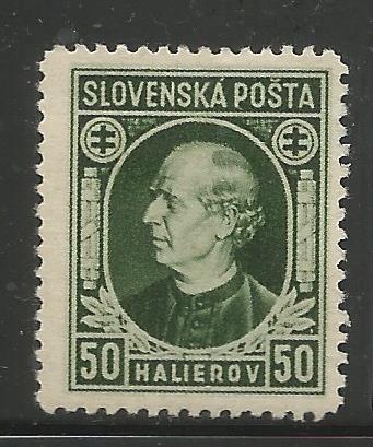 SLOVAKIA 30 MINT HINGED, ANDREJ HLINKA