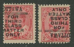 CANADA PRECANCEL OTTAWA 2-90, 2-90-I