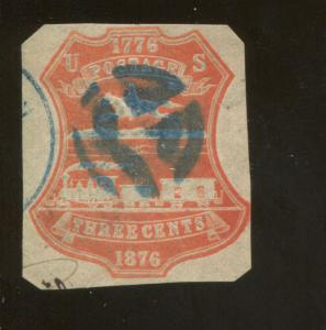1876 United States of America Plimpton Co. 3c Postage Stamp #U218 CV $25