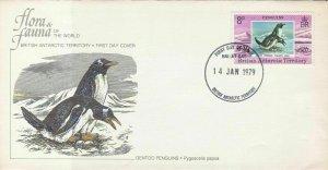 British Antarctic Territory 1979 Flora & Fauna F.D.C  Stamps Cover ref R 17967