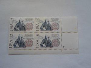 SC # 2036 PL. BLOCK 20 CENT USA/ SWEDEN MNH