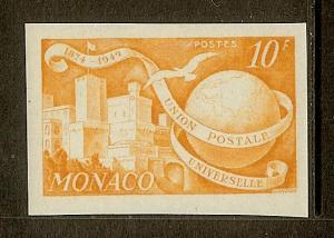Monaco, Scott #245A, 10fr UPU Anniversary, Imperforate, MLH