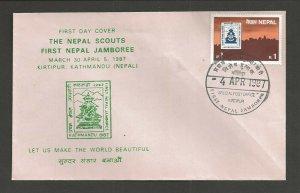 1987 Nepal Boy Scouts First National Jamboree FDC