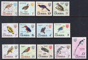 Gambia 215-227 Birds MNH VF