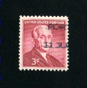 USA #1072 used 1955 PD .08