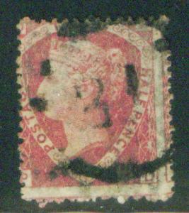 Great Britain Scott 32 1860 Queen Victoia CV$52.50