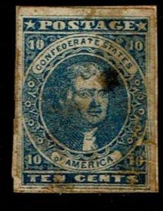 Scott #CSA#2 Fine-used. SCV - $180.00