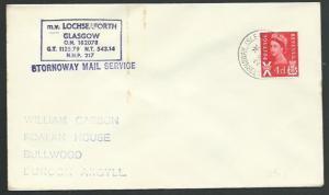 GB SCOTLAND 1970 cover STORNOWAY MAIL SERVICE, MV LOCHSEAFORTH cachet......66338