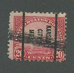 1931 USA Kansas City, MO  Precancel on Scott Catalog Number 698