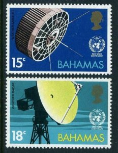 Bahamas 346-347,MNH.Michel 354-355. Meteorological Weather satellite,radar.1973.