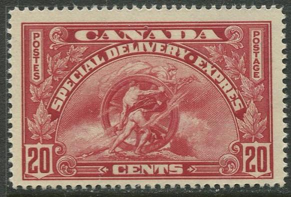 Canada - Scott E6 - Special Delivery - 1935 - MVLH - Single 20c stamp