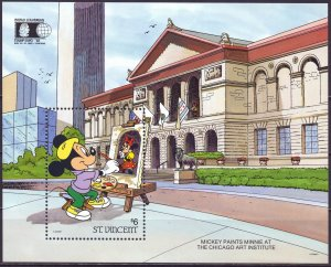 Maldives. 1992. bl207. Disney Cartoon. MNH.