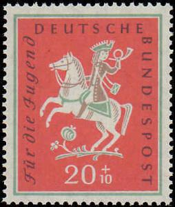 1958 Germany #B360-B361, Complete Set(2), Never Hinged