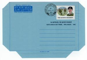 (I.B) Elizabeth II Postal : British Forces Mail (Queen's Regiment) Type 1