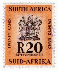 (I.B) South Africa Revenue : Duty Stamp 20R