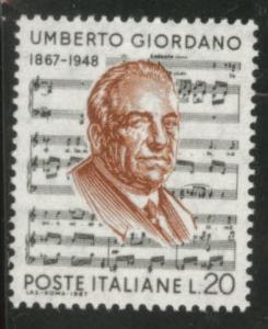 Italy Scott 970 MNH** 1967 composer Giordano stamp
