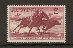Australia 1964 5/- Stockman SG327a Mint Cat£90