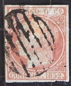 Spain, 1852, Queen Isabella II - Looking Left, YT #12, (1628-T)