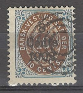 COLLECTION LOT # 3884 DANISH WEST INDIES #28 1902 CV+$12.50
