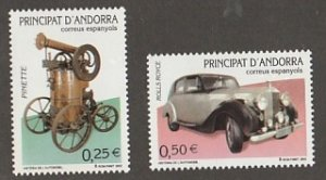ANDORRA (SPANISH) #284-5 MINT NEVER HINGED COMPLETE
