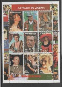 SENEGAL #1347  1999  ACTORS 7 ACTRESSES    MINT VF NH O.G SHEET 9