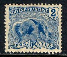 French Guiana 1905: Sc. # 52; */MH Single Stamp