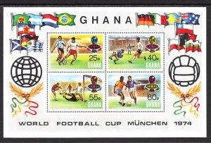 Ghana 529 Soccer Souvenir Sheet MNH VF