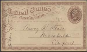 TEXAS CORYELL COUNTY (1875 Rainey's Creek) DPO 1857-1874