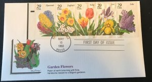 Fleetwood 2760-4 Garden Flowers All 5 Stamps Booklet Pane