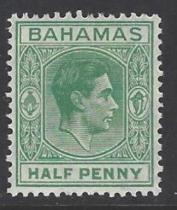 Bahamas, Scott #100; 1/2p King George VI, MLH