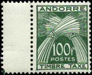 Andorra, French Administration Scott #J41  Mint Never Hinged Postage Due