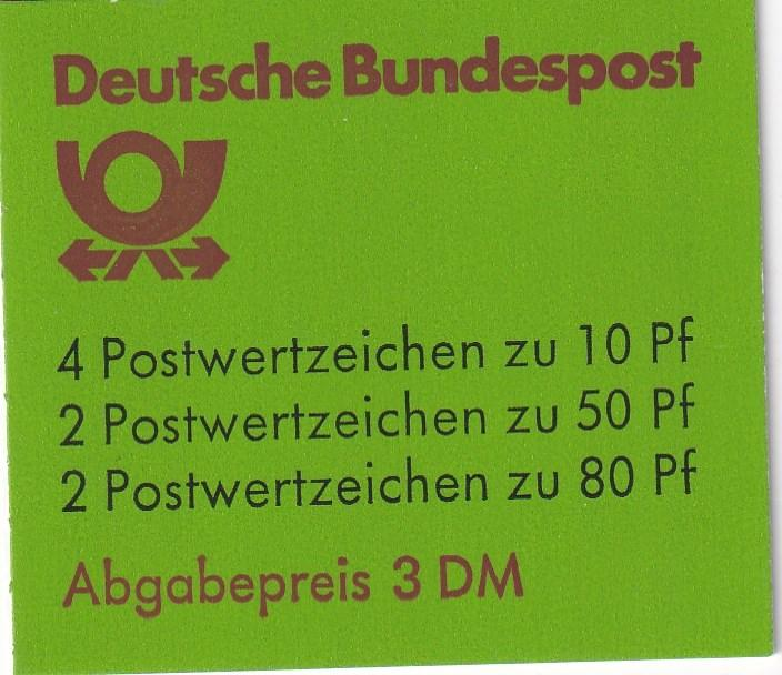 Germany #1231c Complete Booklet  CV $6.00 (A18299)