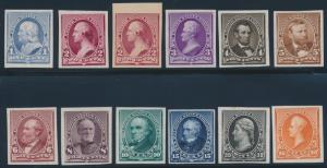 #219P3-229P3 PLATE PROOFS ON INDIA PAPER VF-XF SET CV $789.00 HV7457