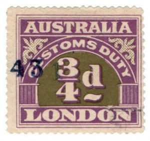 (I.B) Australia Revenue : Customs Duty ¾d